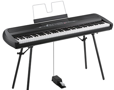best korg sp280BK stage piano with speakers