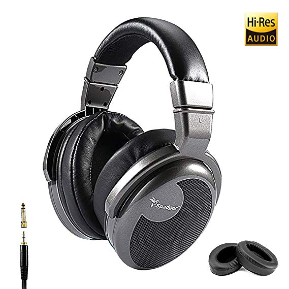spadger over ear headphones and professional studio dj headphones