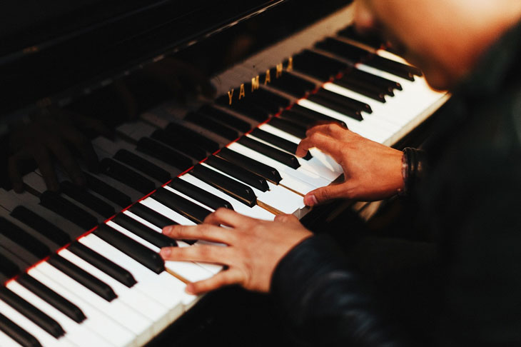 a man playing the piano