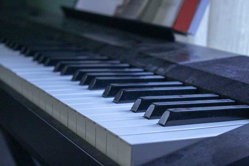 Black digital piano